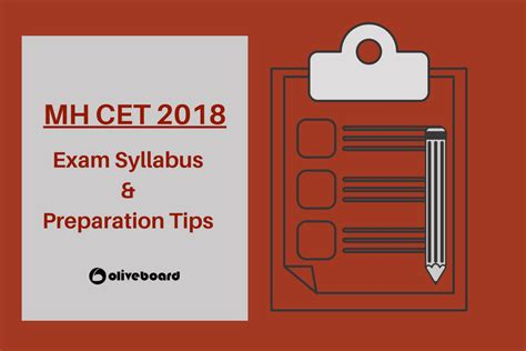 Mh Cet Mba Syllabus by Mh Cet 2018 Syllabus Preparation Tips Mba Oliveboard