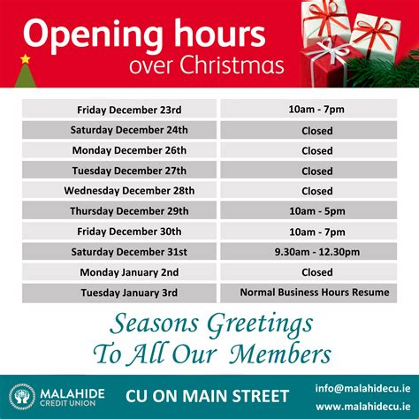 maps credit union hours opening hours malahide district credit union