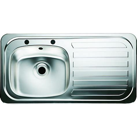 Wickes Kitchen Sinks Wickes Single Bowl Kitchen Sink Stainless Steel Rh Drainer Wickes Co Uk
