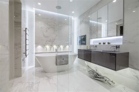 Modern Ensuite Bathrooms by Luxury Bathrooms Hadley Wood Tiles Baths Direct