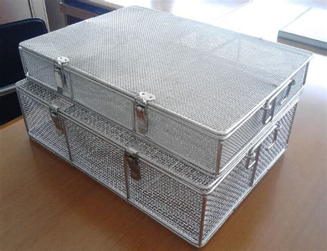with wire great stainless steel wire mesh square baskets with lid