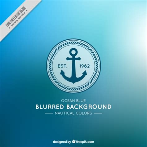 nautical colors blurred background with anchor and nautical colors vector free