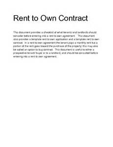 Rent To Buy Agreement Template doc 575709 rent to own agreement rent with option to