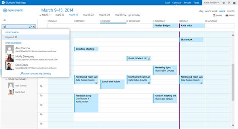 Microsoft Email Search Discover Calendar Search In Outlook Web App Office Blogs