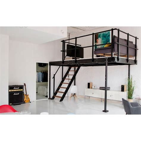 T15 Mezzanine With M Straight Stairs Mezzaninesonline Com