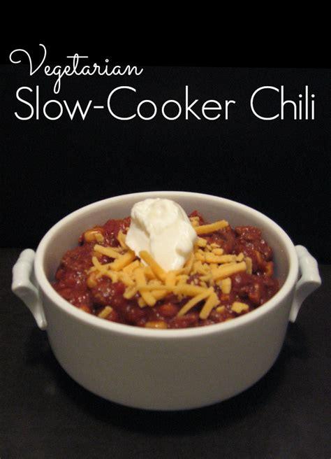 vegetarian crock pot chili recipe