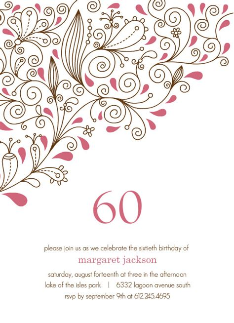 template for 60th birthday card birthday calender sle new calendar template site