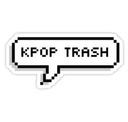 Word Stickers For Wall quot kpop trash speech bubble quot stickers by curiositae redbubble