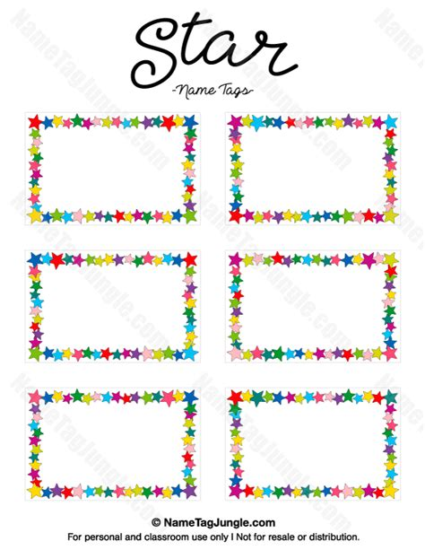 printable star tags free printable star name tags the template can also be