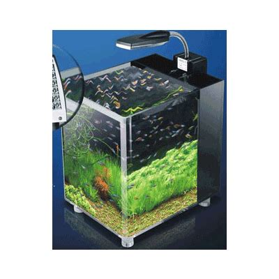7 litre mini fish tank desk aquarium filter led light