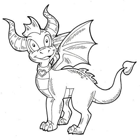 coloring pages of spyro the dragon spyro ember lineart by kaylathedragoness on deviantart