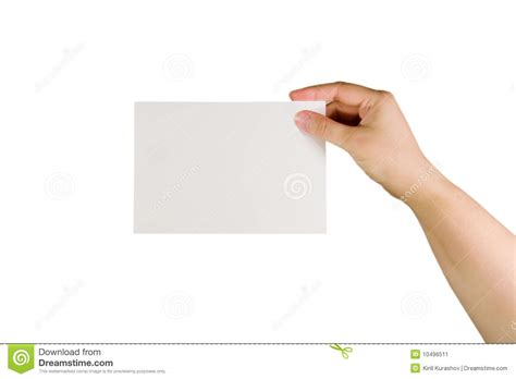 How To Make Paper Holding - holding a paper card stock image image 10496511