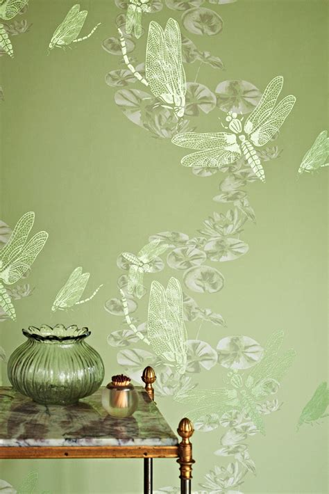 wallpaper green uk lucky charms dragon flies boxing hares by barneby gates