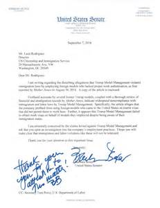 senator calls for homeland security to investigate trump s