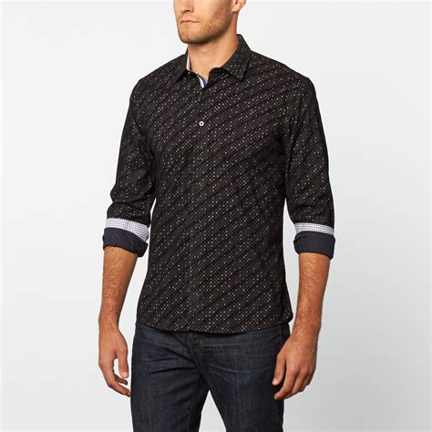 Pattern Button Up | button up shirt black pattern s platini touch of