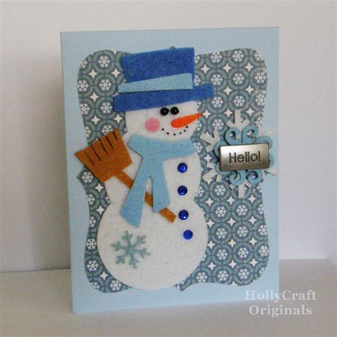 etsygreetings handmade cards snowman winter card