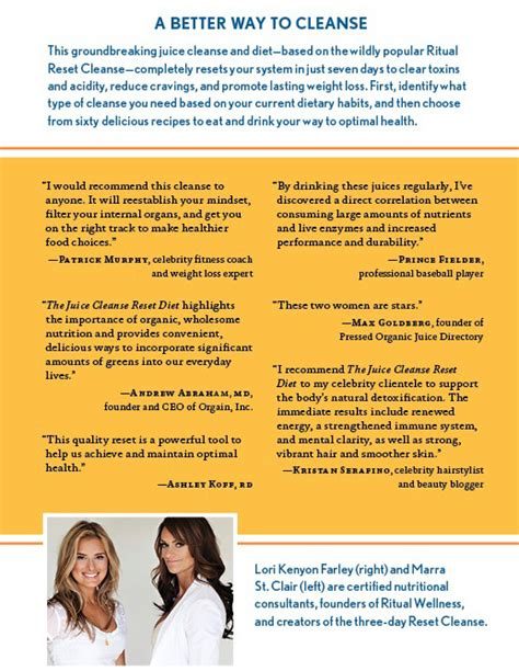 Questions To Ask For A Detox Clinic by The Juice Cleanse Reset Diet Ritual Wellness Co Founders