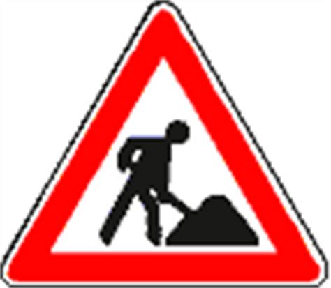 Baustellenschild Zeichen by Gefahrenzeichen Verkehrsschilder Gefahrzeichen