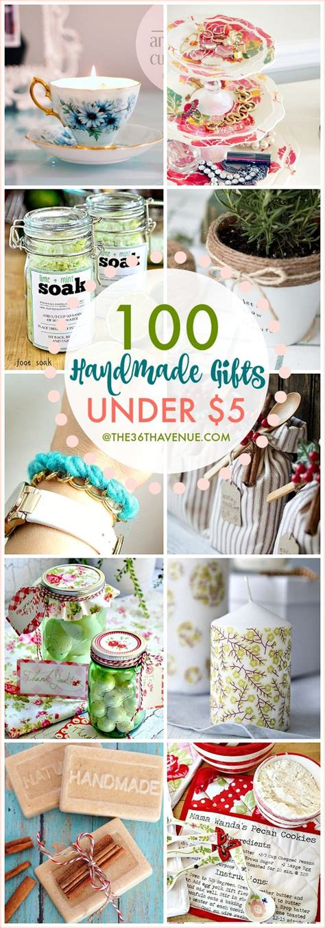 100 handmade gifts under five dollars birthdays about