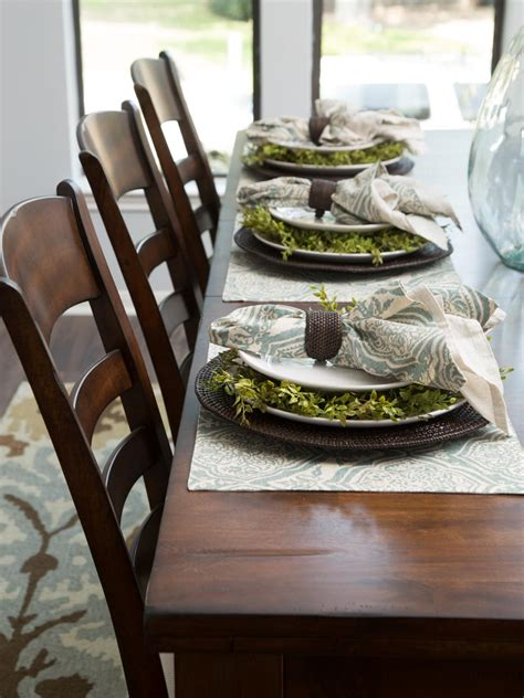 dining room place settings photos hgtv