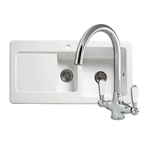 Kitchen Sinks And Taps Review Reginox Rl501cw Ceramic Sink Elbe Tap Sinks Taps