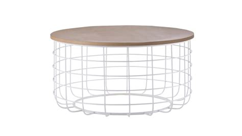 table basse metal blanc table basse ronde bois blanc urbantrott