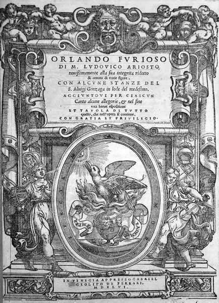 orlando furioso testo 500 anni dalla pubblicazione de l orlando furioso di