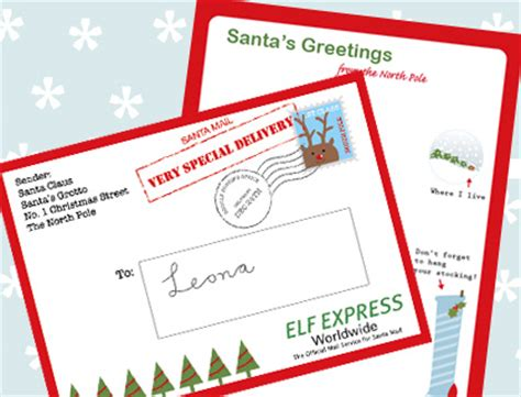 printable return letter from santa free printable letters from santa
