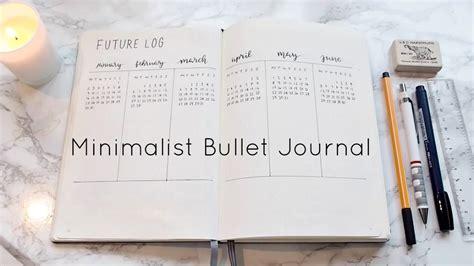 bullet journal setup my minimalist bullet journal set up youtube