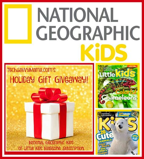 printable gift certificate magazine subscription giveaway national geographic kids or little kids magazine