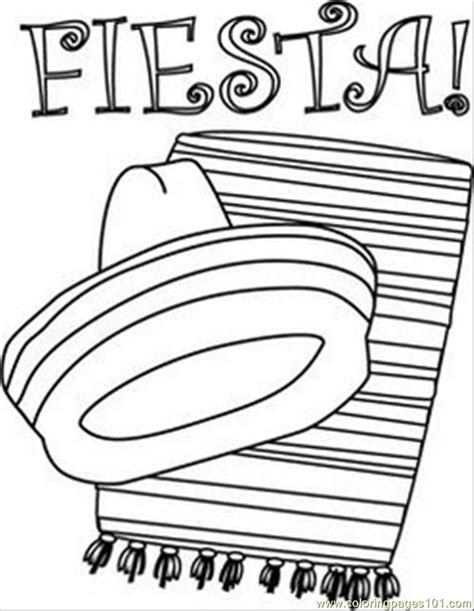 mexican boy coloring page iesta colouring pages mexican boy fiesta coloring page
