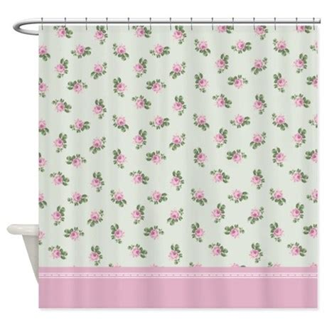 pink patterned curtains online pink roses floral pattern shower curtain by inspirationzstore