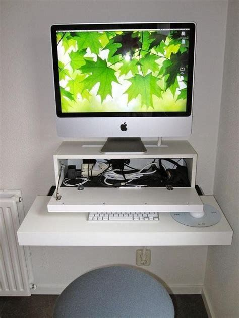 Imac Computer Desk Ikea Create A Small Floating Imac Workspace With Ikea Shelves You Think The O Jays And Shelves