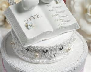 love verse bible cake topper with doves and hydrangea accents wedding cake topppers