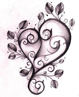 cool heart designs to draw clipart best