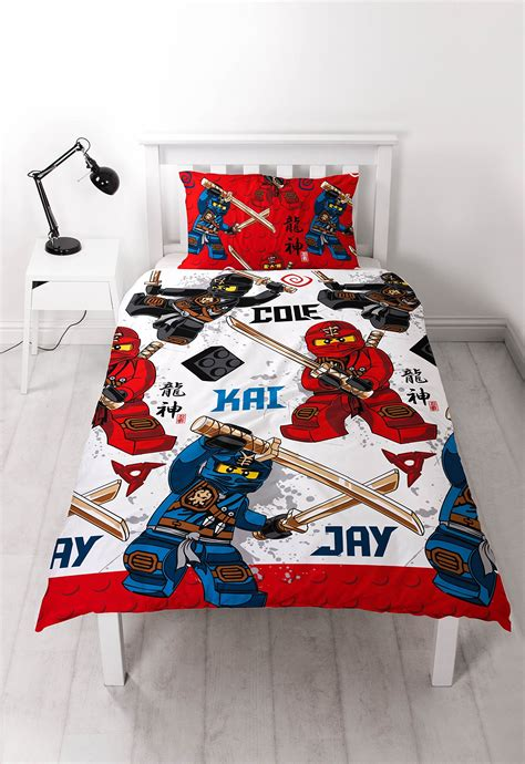 ninjago bed set lego ninjago warrior reversible rotary single bed duvet