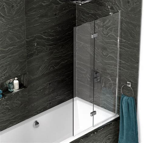 Shower Fittings For Baths kudos inspire 2 panel in fold bath screen uk bathrooms