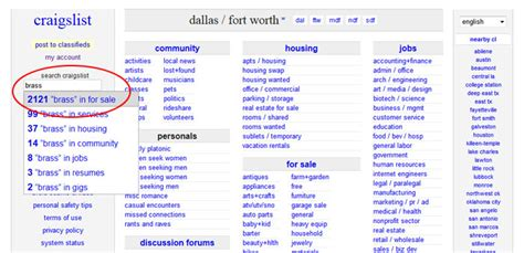 Craigslist Email Search Secrets Of A Craigslist Addict Buying On Craigslist The