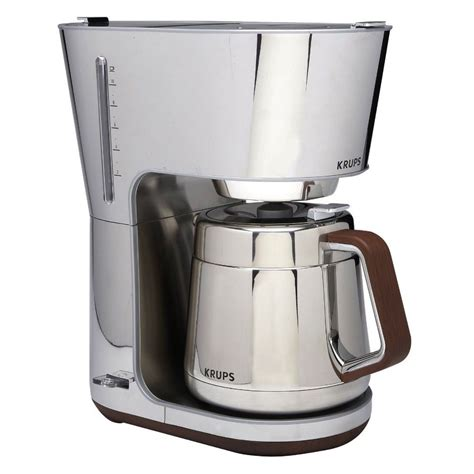 krups silver 10 cup brewer w thermal carafe coffee maker kt600 machine new ebay