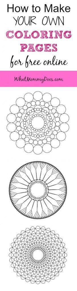 make your own coloring pages online how to make your own mandala coloring pages for free