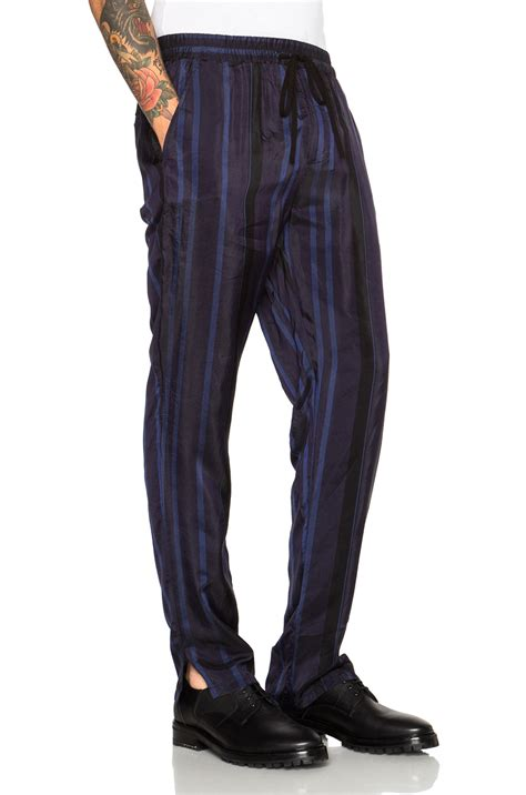 Elastic Waist Tapered 3 1 phillip lim tapered elastic waist lounge in blue