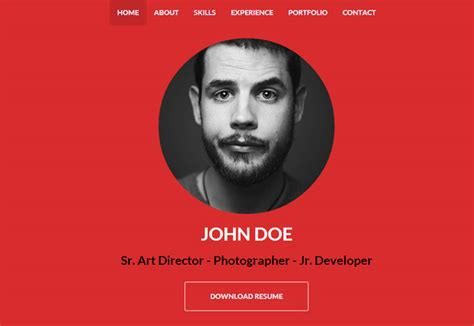 30 Best Resume Cv Html Templates For Personal Business Card Website 2018 Designmaz Programmer Personal Website Template