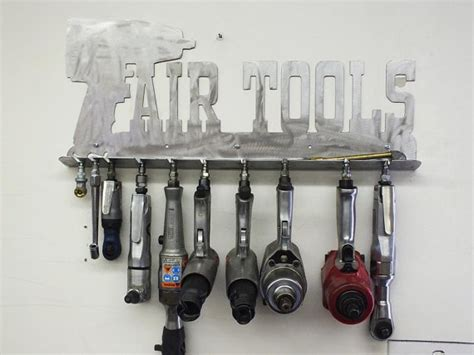 mechanic s air tool rack toolbox shop custom metal
