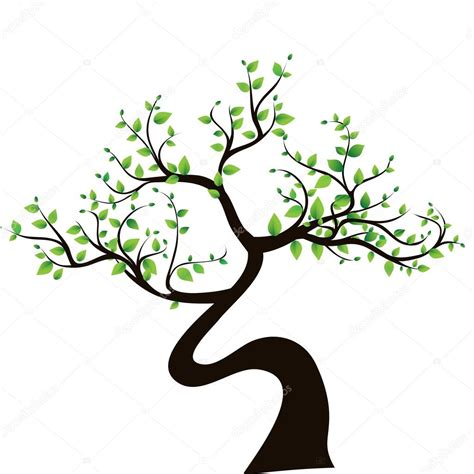 tree symbolism abstract tree symbol of nature stock vector