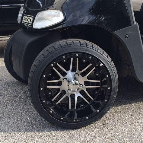 14 quot aluminum golf cart wheels and tire combo pete s golf