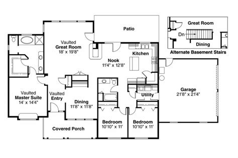 good looking ranch floor plans house plans new