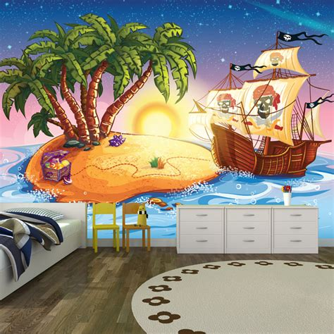 pirate wall murals pirate ship treasure island pirate wall mural
