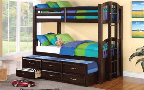 Acamar Twin Over Twin Bunk Bed W Bottom Twin Captain Bed Bunk Bed Bottom