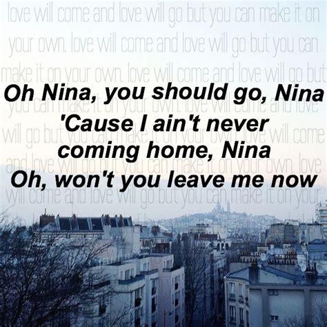 ed sheeran nina lyrics 17 best images about listen to the lyrics on pinterest