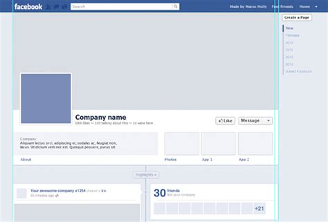 Facebook Layout Template Vector | free facebook timeline psd template creative beacon